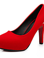 Women's Shoes  Stiletto Heel Heels/Platform/Round Toe/Closed Toe Pumps/Heels Wedding/Dress Red