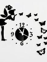 שעון קיר מראה 3D פיות יצירתי