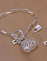 Dame Sølv Kæde Armbånd
