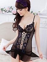Women's Lace/Organza Lace Lingerie/Robes/Ultra Sexy/Suits Backless Nightwear