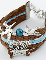 Women's European Style Retro Multi-pendant Leaves Leiothrix Bracelet