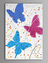 Oil Painting Modern Abstract Butterfly Hand Painted Canvas with Stretched Frame