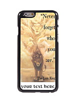 Personalized Gift Never Forger Who You Are Design Aluminum Hard Case for iPhone 6 Plus
