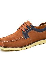 Men's Shoes Casual Leather Oxfords Blue/Orange