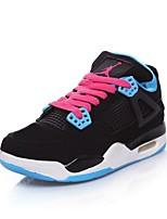 Zapatos de mujer - Tacón Bajo - Punta Redonda - Sneakers a la Moda - Casual - Semicuero - Negro / Azul / Rojo