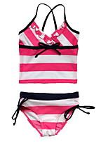 BHL Retailed Kid Girls Summer Style Striped Print 1pc Swimsuit  Swimwear Bikini For SZ 3~12Y