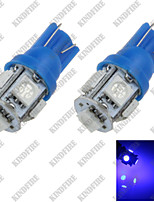 2X Blue T10 5SMD 5050 LED Car Clearance Instrument Lamp Roof Light Bulb DC 12V A007