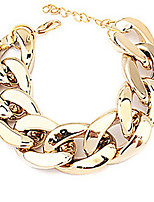 Women's Wide Chunky Golden Chain Bracelet