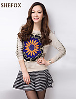 Women's Casual/Cute Stretchy Thick Long Sleeve Pullover (Knitwear) SF7A23