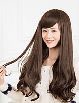 Girls Must-Brown Oblique Fringe Fashion Wig Burst
