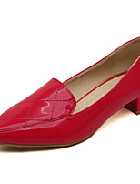 Women's Shoes  Low Heel Platform/Pointed Toe/Closed Toe Pumps/Heels Casual Black/Red/White/Silver