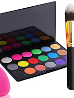 Pro Party 18 Colors Eyeshadow Matt Earth Color Makeup Palette + Powder Brush+Powder Puff