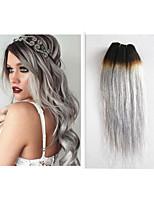 3pcs/lot Peruvian Human Hair Ombre Gray Hair Weaves 10