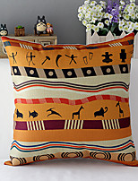 Africa Style Animals Patterned Cotton/Linen Decorative Pillow Cover