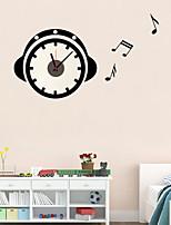 DIY 3D Creative Music Headphones Wall Clock