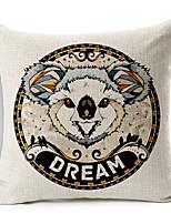 Modern Style Cartoon Koala Patterned Cotton/Linen Decorative Pillow Cover