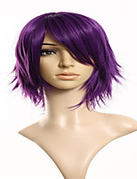 Cartoon Fashion Explosion Models Purple Short Hair Wig