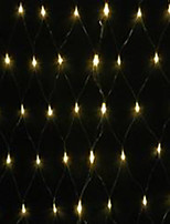 5W 1.5x1.5 Meter 96pcs LED Net Light with AC110-220V Input PVC Transparent, Warm White Color