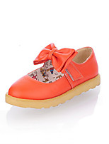 Girls' Shoes Casual Round Toe  Flats Black/Yellow/Pink/Red