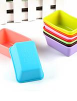 10pcs moldes para hornear en forma de rectángulo moldes pastel de gelatina de molde (color al azar)