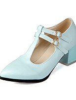 Women's Shoes Chunky Heel Heels/Pointed Toe/Closed Toe Pumps/Heels Wedding/Party & Evening/Dress Blue/Pink/White