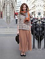 Women's Casual Maxi Inelastic Medium Maxi Skirts (Chiffon)