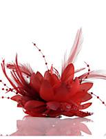 Dame Chiffon/Blonde/Imitert Perle Headpiece Bryllup/Avslappet/Utendørs/Spesiell Leilighet Kranser/fascinators/Blomster