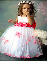 Girl's Pink / Red Dress , Lace / Bow Cotton Blend / Mesh Summer / Spring / Fall