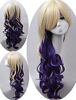nouveaux cheveux style vague naturelle perruques synthétiques à double couleur perruques de cheveux de vague