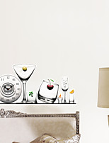 3D The Wine Glass Decoration Wall Stickers Wall Decals