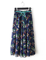 Women's Print Skirts , Beach/Casual Maxi