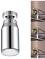 rgb contrôle de la température de couleur adaptateur universel conduit robinet évier de cuisine nozzl