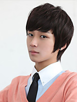 South Korea Fashion Students Short Oblique Liu Haixiu Face Handsome  Bulk Short Straight Hair Wig