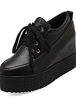 Women's Shoes Wedge Heel Creepers/Ankle Strap Pumps/Heels Dress Black/White