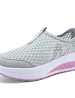 Scarpe Donna-Sneakers alla moda-Tempo libero / Sportivo-Scarpette da culla-Plateau-Tulle-Nero / Blu / Viola / Rosso / Grigio