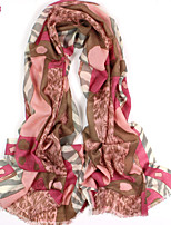 Women's Fashion 100% Wool Leopard Print Scarf