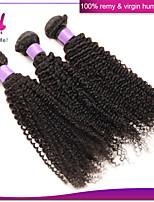 cabelo brasileiro encaracolado cabelo virgem não transformados brasileira encaracolado Kinky cabelo virgem brasileiro profunda