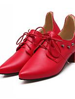 Girls' Shoes Casual Heels/Round Toe  Pumps/Heels Black/Blue/Red/Beige