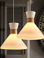 Contemporary Pendant Light with Glass Shade in Flask Design