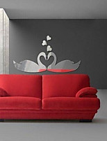 Swan Shaped DIY Mirror Wall Stickers Art Decals