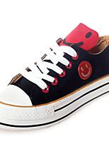 Zapatos de mujer Tela Plataforma Comfort/Punta Redonda Sneakers a la Moda Casual Negro/Caqui