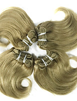 4pcs 8inch peruanische reine Haarkörperwelle color # 27 Haar spinnt