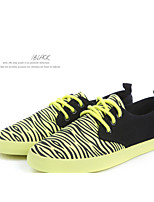 Women's Shoes Zebra Female Canvas Shoes Melting Trend Of Single Fluorescent Color Shoes More Colors Available X1170