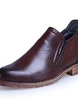 Men's Shoes Wedding/Casual Leather Oxfords Black/Burgundy
