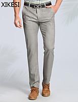 Men's Work/Formal Pure Suits Pants (Linen/Viscose) XKS6A01