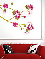 Wall Stickers Wall Decals Style Kim Flower Flying PVC Wall Stickers