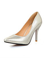 Women's Shoes Synthetic Stiletto Heel Heels/Basic Pump Pumps/Heels Office & Career/Dress/Casual Black/Silver/Gold
