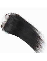 3.5x4 Brazilian Human Virgin Hair Light Brown Base Color Free Part Top Closure Silky Straight