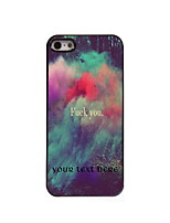 Personalized Gift Fuck You Design Aluminum Hard Case for iPhone 5/5S