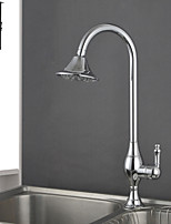 Shengbaier Deck Mounted Chrome Finish Rotatable Kitchen Faucet